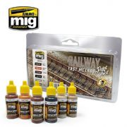 RAILWAY FAST METHOD PAINT SET<br> A.MIG-7471